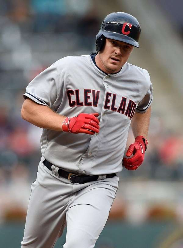 Jay Bruce of the Cleveland Indians rounds the