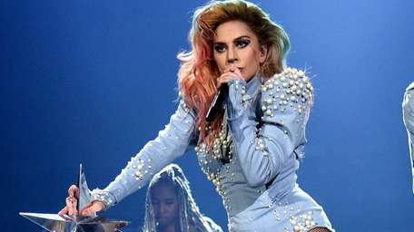Lady Gaga performs onstage during the