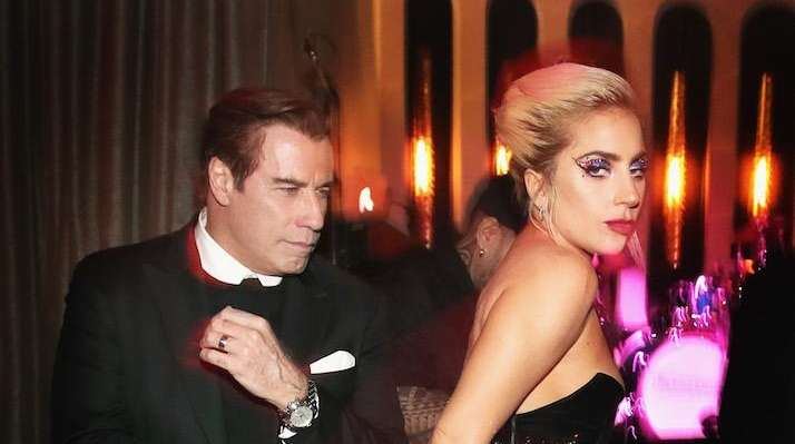 Actor John Travolta and recording artist Lady Gaga