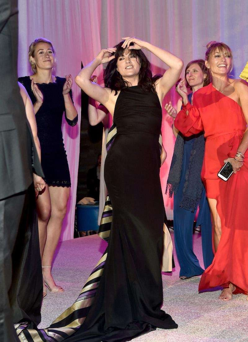 Actress Selma Blair dances during the 15th Annual