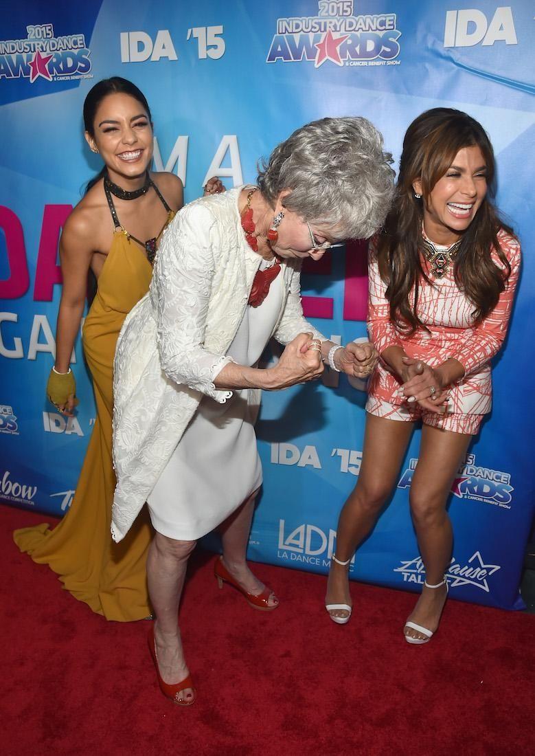 Actors Vanessa Hudgens, Rita Moreno and choreographer Paula
