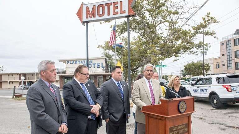 Hempstead Town Supervisor Anthony J. Santino and councilman