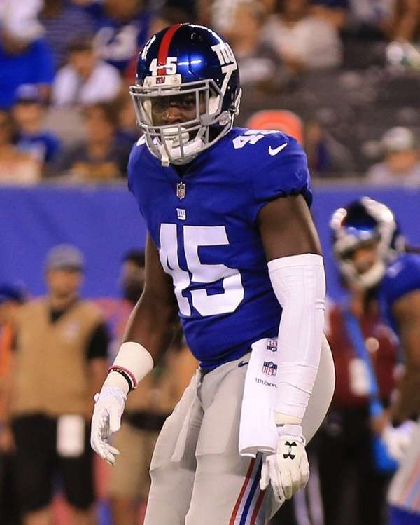 New York Giants tight end Will Tye, who
