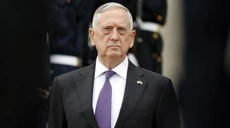 U.S. Defense Secretary Jim Mattis is seen here