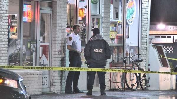 Suffolk County police on scene of a knifepoint