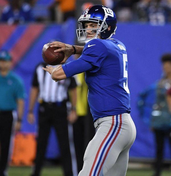 Giants rookie quarterback Davis Webbagainst the Pittsburgh Steelers
