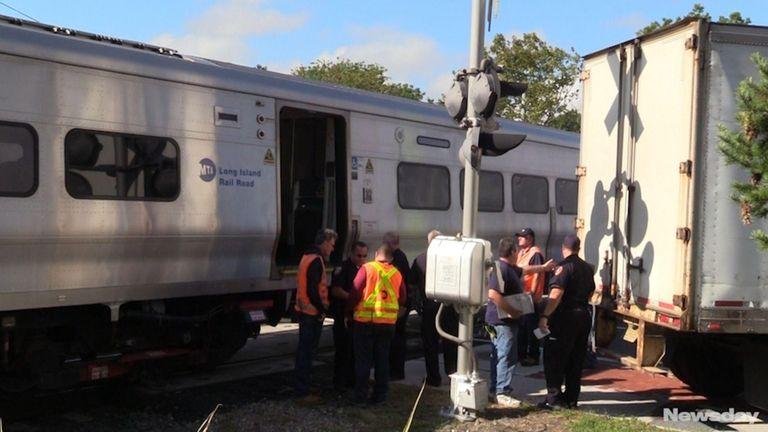 A Ronkonkoma-bound Long Island Rail Road train struck