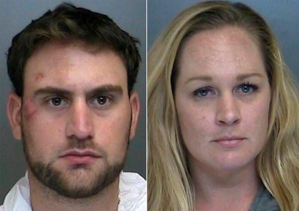 John Giunta and Kristi Larsen were arrested as