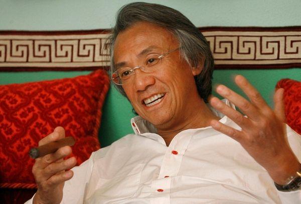 Hong Kong businessman David Tang during an interview