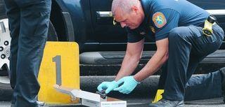 Nassau County police at a crime scene