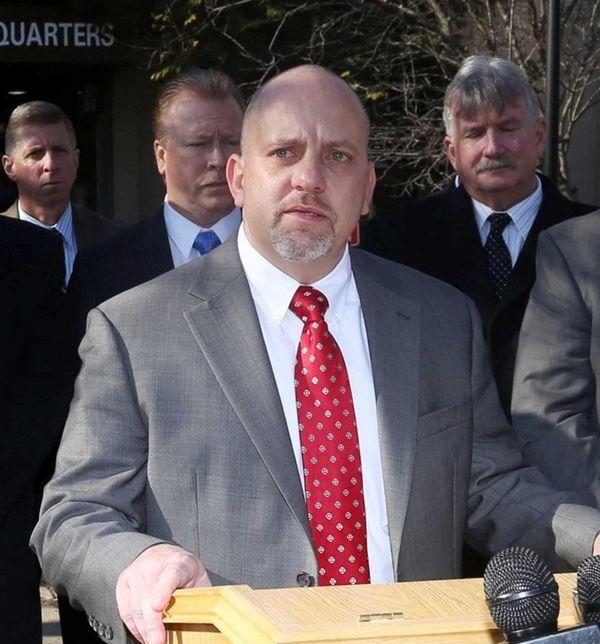 Suffolk County PBA President Noel Digerolamo outside of