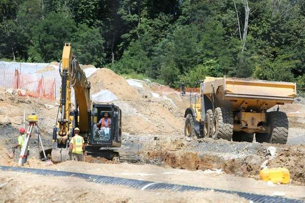 Construction continues at Garvies Point in Glen Cove