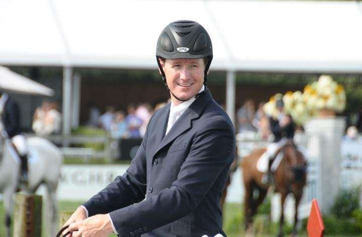 Bridgehampton- August 30:(l-r) McLain Ward, winner of the