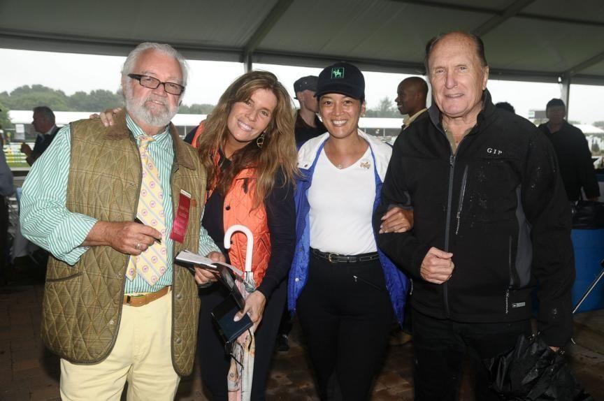 August 29- Bridgehampton:(l-r) Paul Howe, Jill Rappaport, Cassandra
