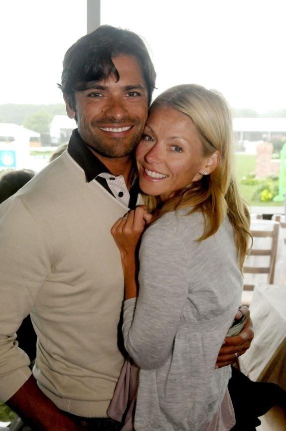 August 29- Bridgehampton:(l-r) Mark Consuelos and Kelly Ripa
