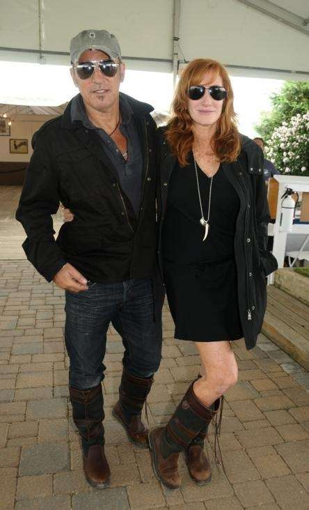 Bruce Springstein and wife Patty attend the Hampton