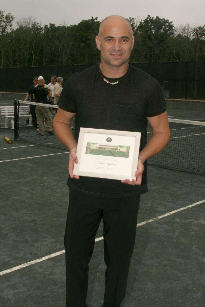 August 30,2009 - Andre Agassi at the Ross