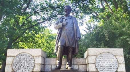 A Central Park statue of 19th Century physician
