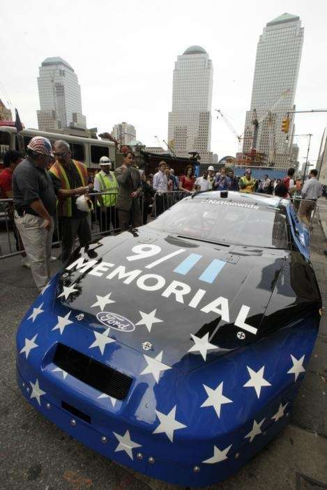 The NASCAR racecar custom-designed to commemorate Sept. 11