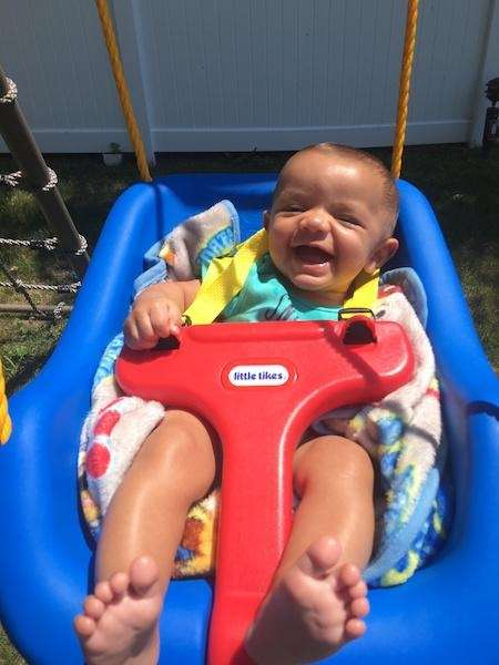 Luke Mohan, 5 months, enjoying a beautiful summer