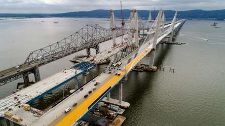 Construction continues on the spans of the new