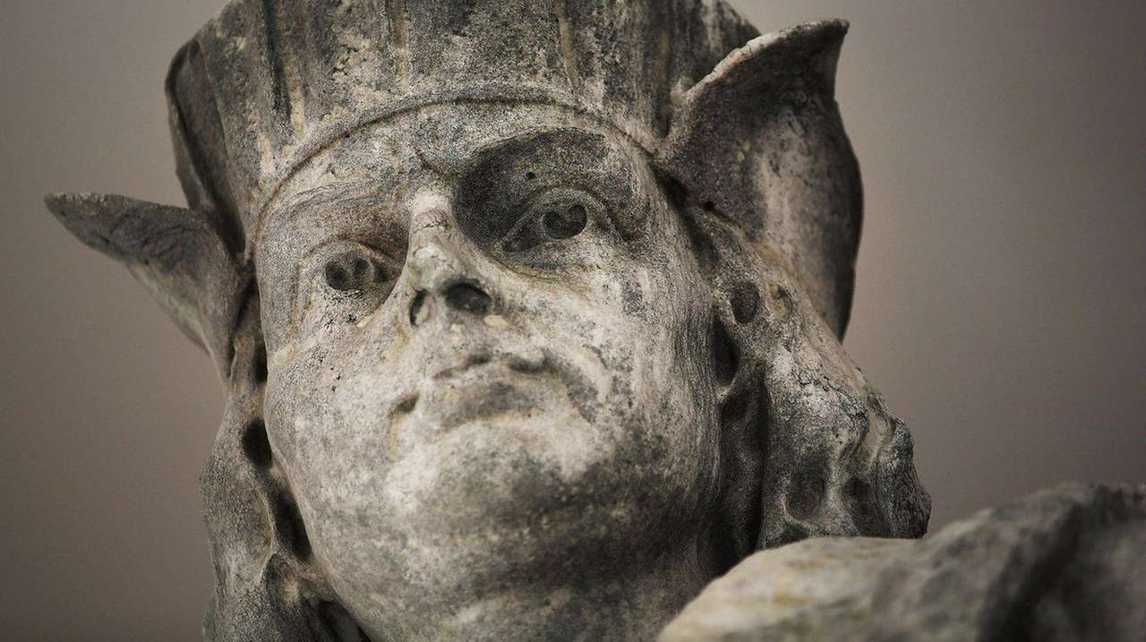The face of the iconic 13-foot statue of