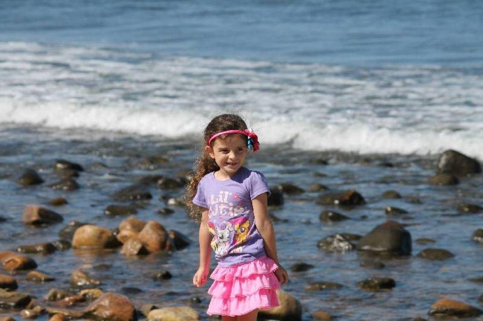My Niece Emma, exploring near Montauk Point Light