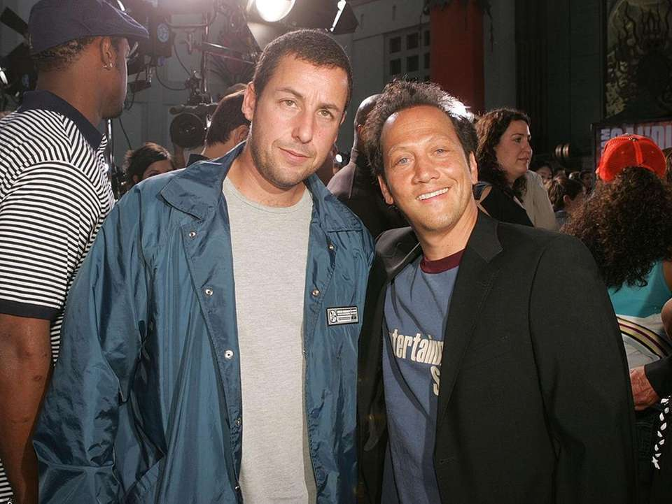 Adam Sandler and Rob Schneider met when they