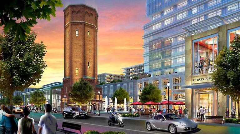 Artist's rendering of the public area with tower