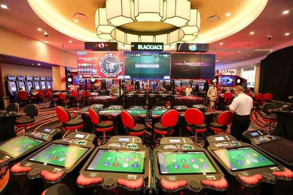 Electronic roulette, blackjack and craps are available at