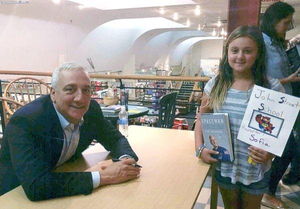 Kidsday reporter Sofia Caruso with astronaut Mike Massimino