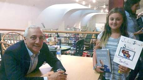 Kidsday reporter Sofia Caruso with astronaut Mike Massimino