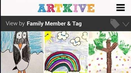 With Artkive, take photos of your children's artwork
