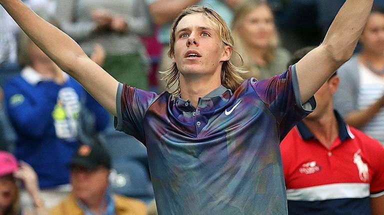 Denis Shapovalov accepts the cheers of the crowd