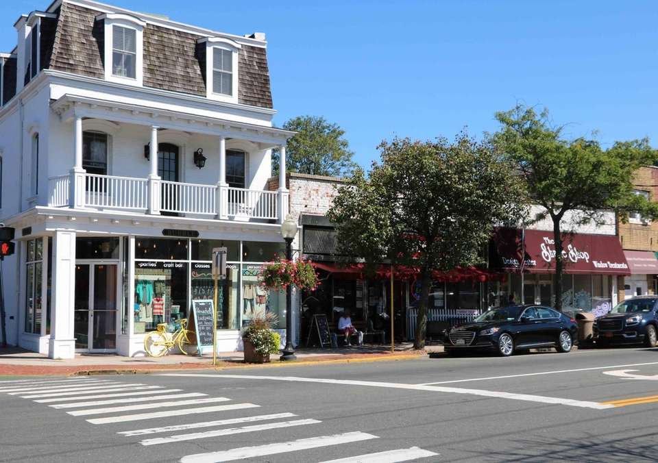 The intersection of Main Street and Fire Island