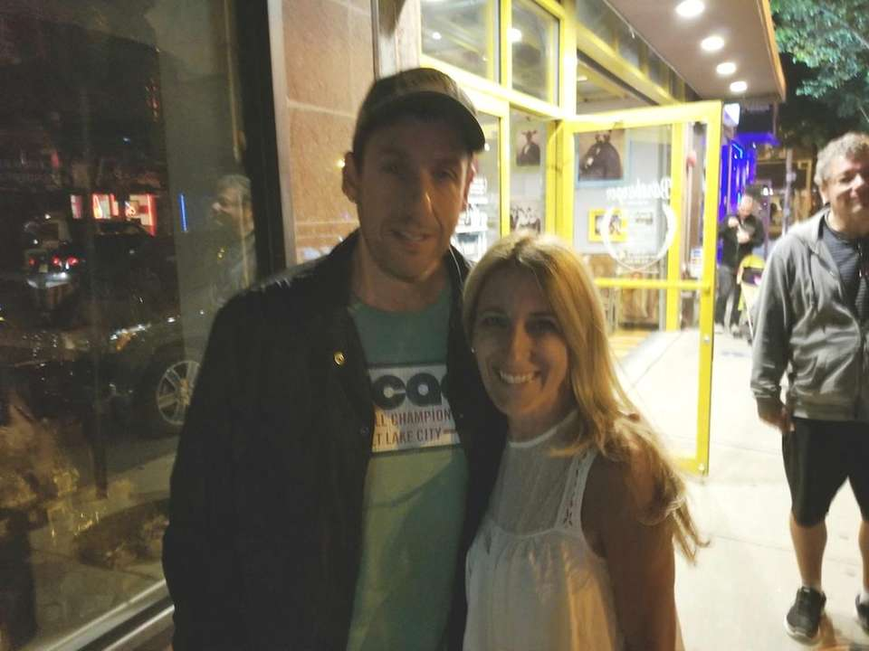 Roslyn's Randi Sloane spotted Adam Sandler twice on