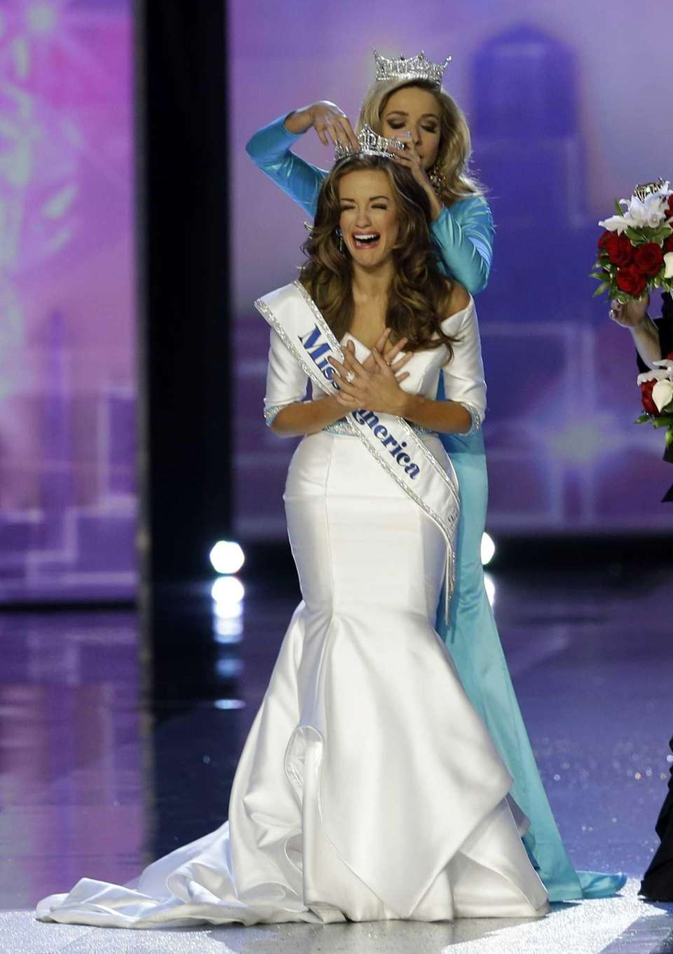 Miss Georgia, Betty Cantrell, is crowned Miss America