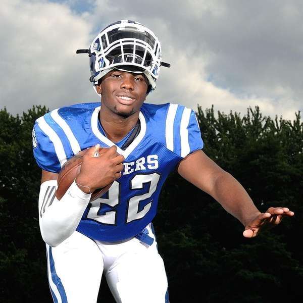 Dashawn Meadors, Hempstead running back, poses for a