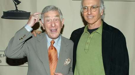 Shelley Berman and Larry David in 2005 promoting