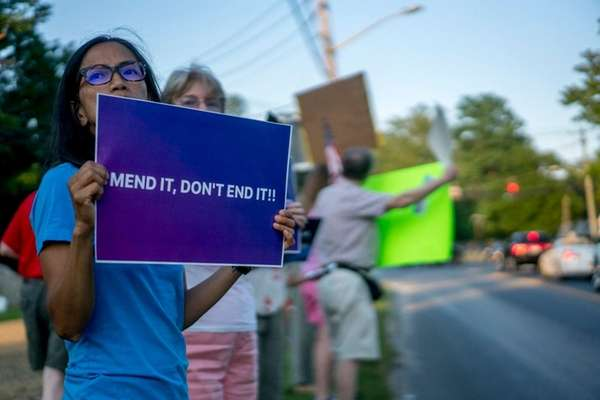 About 30 demonstrators took to the streets of