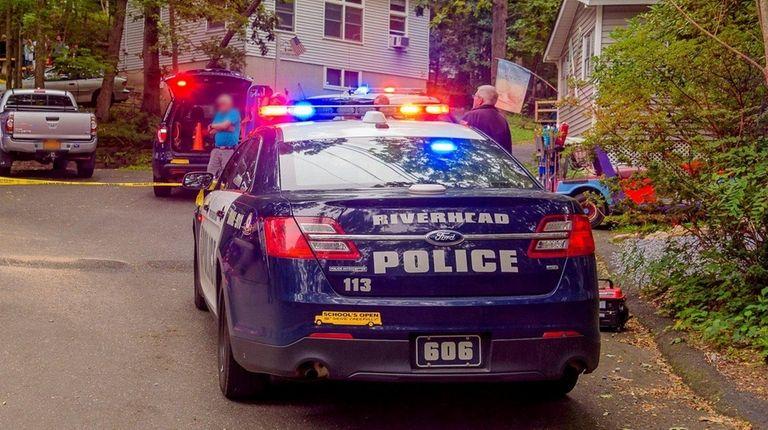 Riverhead police investigate in the
