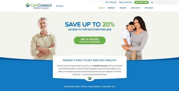 Image from the website of CareConnect, an insurance