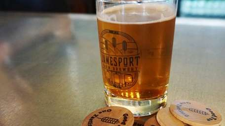 The hops and grain for Jamesport Farm Brewery's