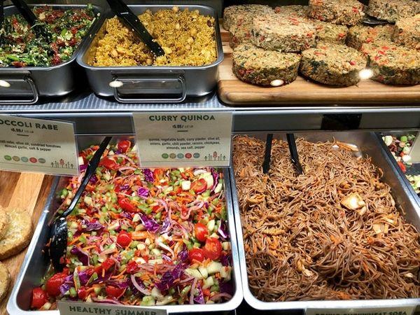 The prepared foods at Cornucopia Natural Foods in