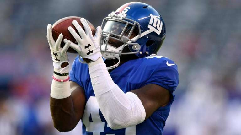 Giants tight end Will Tyewarms upbefore a preseason