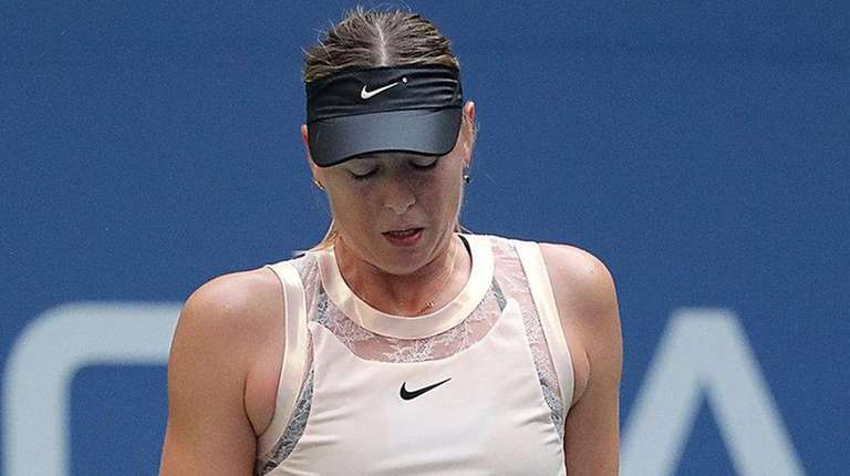 Maria Sharapova reacts to an unforced error against