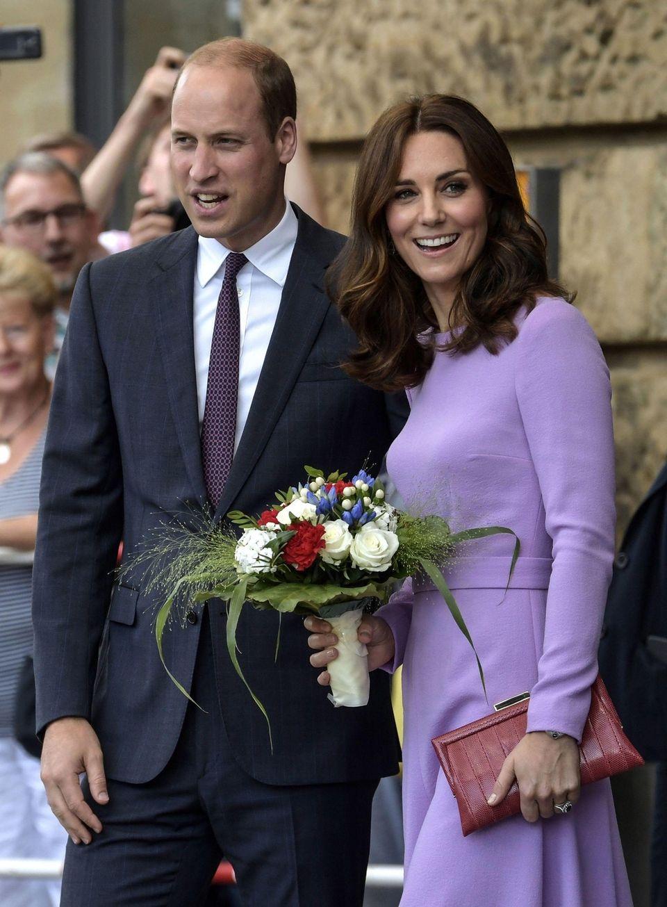 Britain's Prince William, Duke of Cambridge, and Catherine,