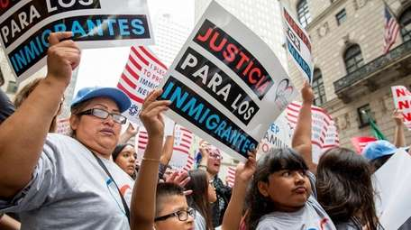 Immigrant communities and supporters protest near Trump Tower