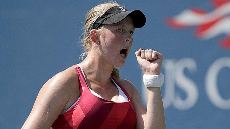 Elysia Burton reacts to a winner against Yuki