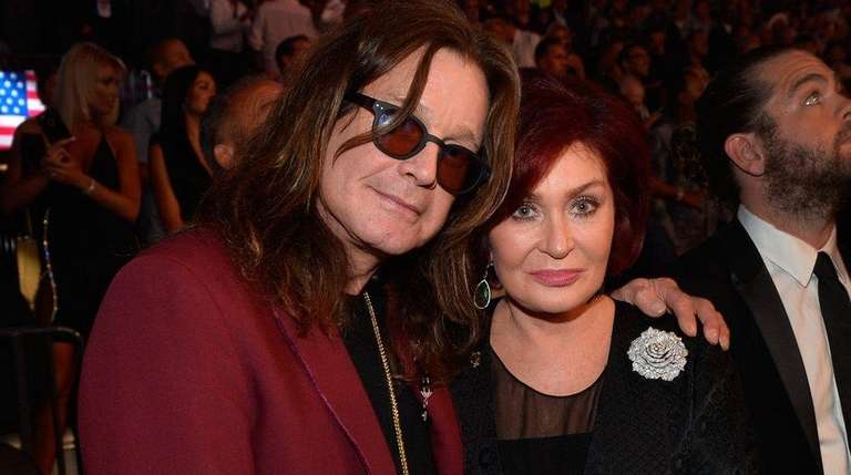 Ozzy and Sharon Osbourne are seen at a